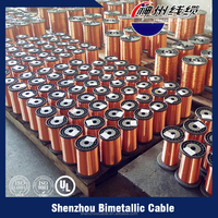 Diameter 0.10mm-5.00mm Copper Clad Aluminum Wire CCA Enameled Wire for motor,transformer, coil.
