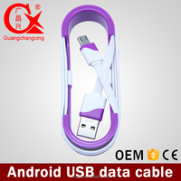 hot sale amazon 1m removable extention head 5pin usb data cable for android