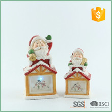Happy Santa Claus On The Roof Flashing Led Christmas Decoration