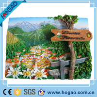 custom natural scenery 3d resin fridge magnet for promotion