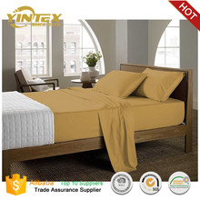 Hotel and home soft like 100 cotton fabric microfiber bed sheet set
