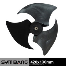 420x130mm plastic air conditioner fan blade (bl420-3b)