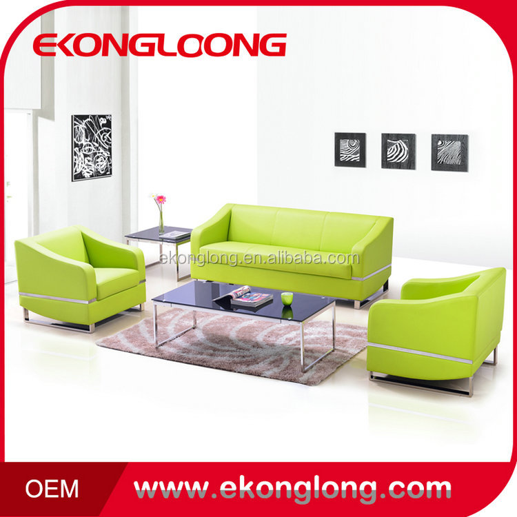 Best price good quality germany living room genuine half moon leather sofa