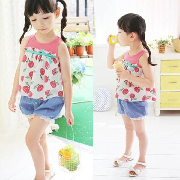 HOT SALES NEW Girl Kids Girls Princess Lace Lantern Jeans Polka Dot Denim Short Pants Trousers Free &Drop Shipping