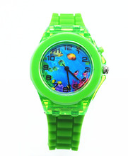 Wholesale Factory Price Silicone Waterproof Kids Cartoon Watch with Japan Quartz Movement