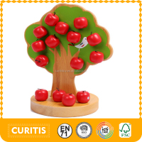 2016 Hot Sale Bead Toy High Quality Wood Apple Tree Wood Beads Toys For Children