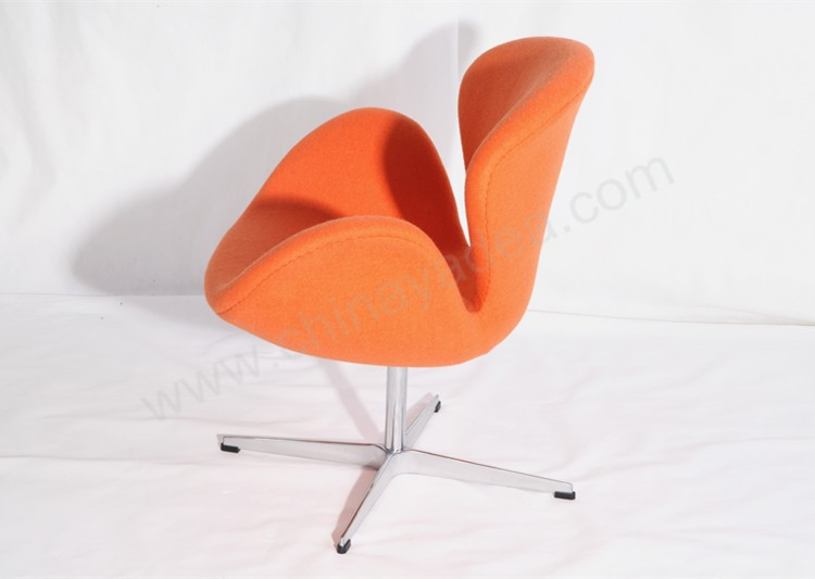 Modern classic designer chair Swan Chair sapphire fabric chair for living room