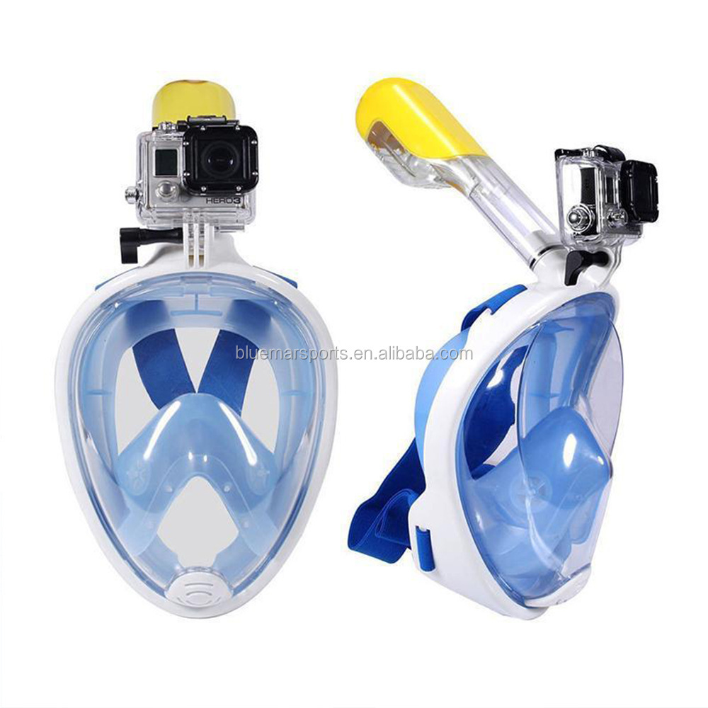 Swimming Training Scuba mergulho full face snorkeling mask Anti Fog Gopro Camera Underwater Diving Mask