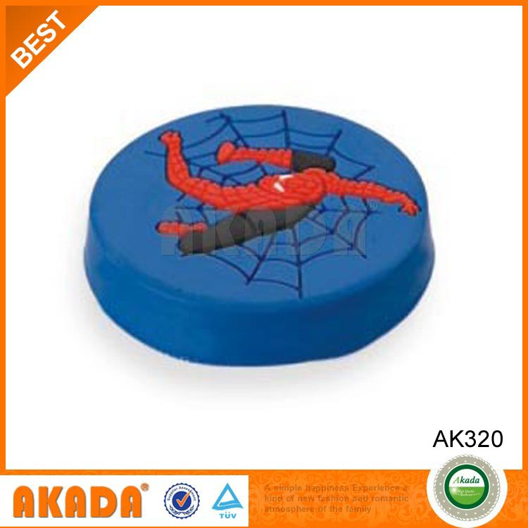 spider man design kids bouncy ball handle and knobs in blue color AK320