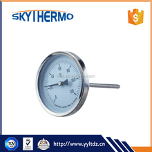 High Quality Wholesale bimetal thermometer industrial hot water temperature gauge