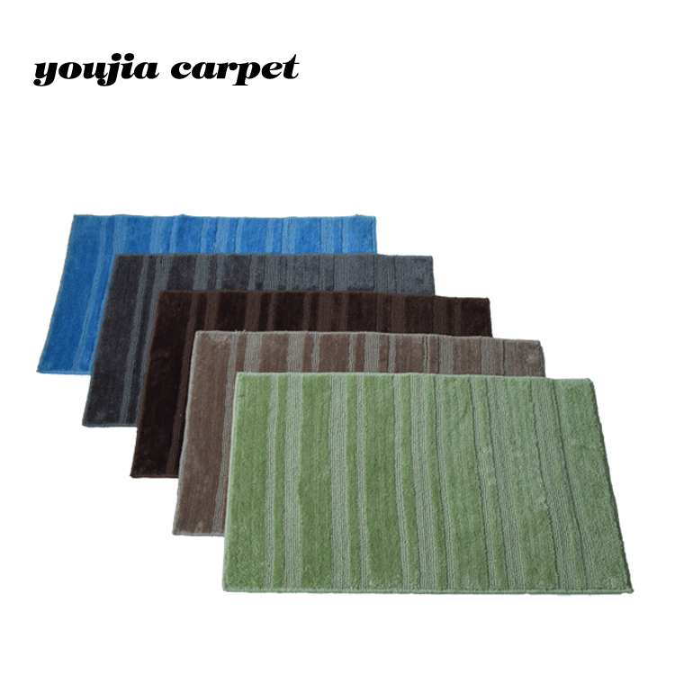 2017 new modern decorative washable bathroom floor rugs and carpets