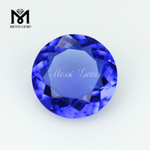 loose blue glass stone fake glass diamond for sale