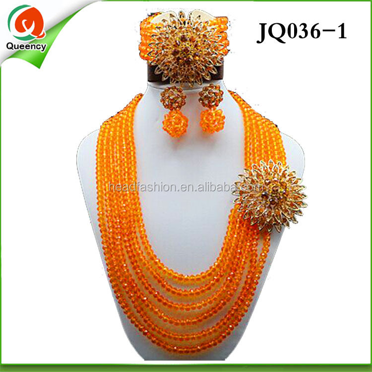 charming design colorful bead for party, fashion African Jewelry Sets JQ036