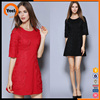 Fashion new design formal red embroidered dress for ladies