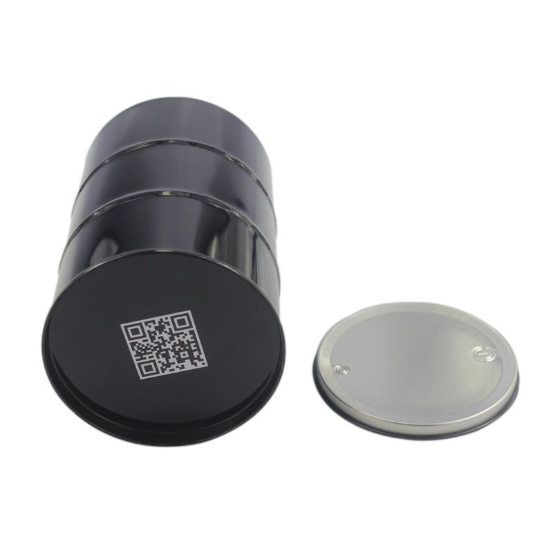 2016 Free Samples Round Black Tins Make Up Cosmetics Tin Packing Balck Box