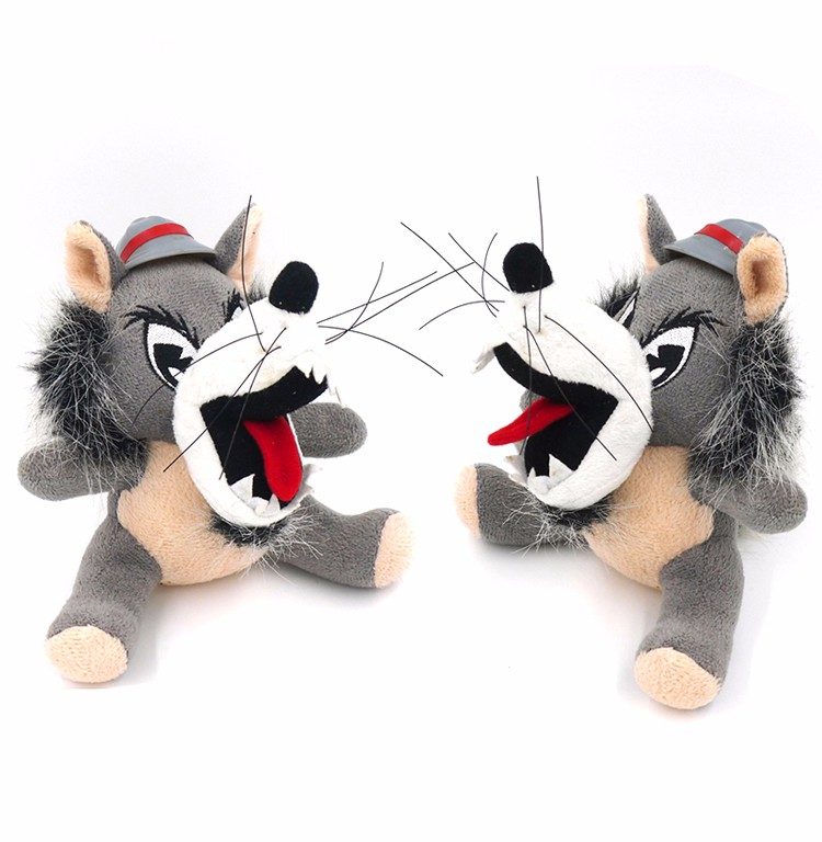 Good quality christmas gift gray wolf stuffed plush toys