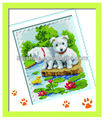 diy decorative dog stone picture crafts