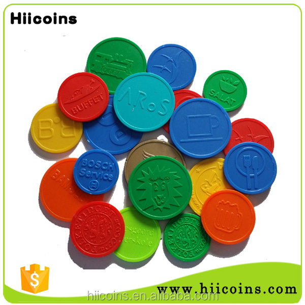 OEM plastic token coins made in china wholesale plastic coins custom