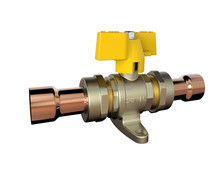 S165 10B new style brass ball aluminium handle copper connection gas ball valve