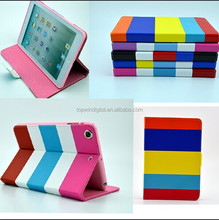 Ombre Strip Flip Leather Protective Case for iPad mini2 mini1