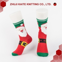 D-W-0201 High quality feather yarn Christmas santa clase women socks fuzzy colorful cute socks wholesale