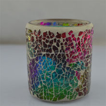 popular and hot sale mosaic candle holder craft glass candle craft