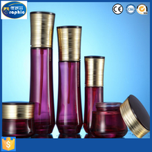 Factory manufacturers stock colored glass jar and bottles with screw top lid