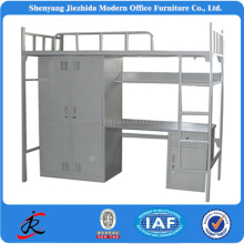 single military steel tube cheap flat school dormitory bunk bed adult metal bed frame