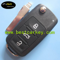 High quality and factory price 433mhz ID48 chip car remote key for vw golf remote key for vw golf 4 key