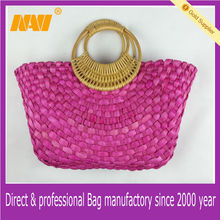 decorative straw bag natural handmade paper straw bag