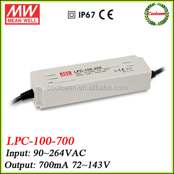 Meanwell LPC-100-700 700ma led lighting driver