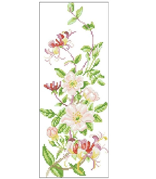 cross stitch kits four season flower