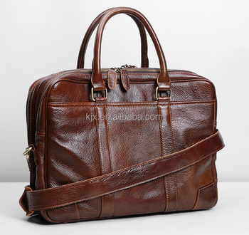 BSCI Soft Genuine Leather Briefcase for Business Man