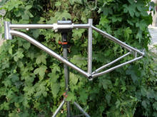 "high quality gr9/Ti3al2.5v titanium 26"" mtb bicycle frame/super light 29er mountain bike frame in stock"