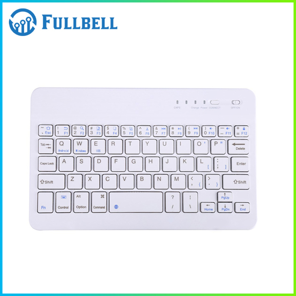 Universal Slim Portable Wireless Bluetooth 3.0 7-Colors Backlit Keyboard with Built in Rechargeable Battery