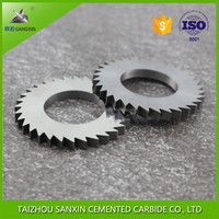 YG6X/YG8 solid cemented tungsten carbide slitting saw blade, circular cutter blade for milling machine