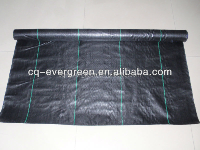 pp woven fabric roll for preventing grass made of new virgin resin material