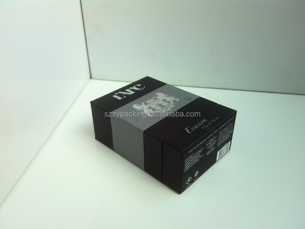 Hot selling black color small Perfume Box With lid Wholesale