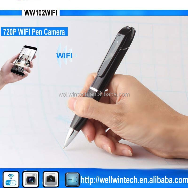 New Smallest P2P <strong>wifi</strong> wireless Pen camera 720P HD recording hidden video Pen camcorder with <strong>WIFI</strong>