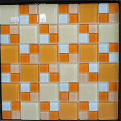 decorative orange glass mosaic tile construction material suppliers