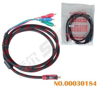 High Quality Male to Male HD to 3 RCA Component Cable (Connection Line-HD to 3 RCA Cable-1.5m)