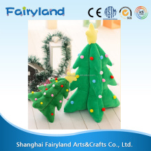 Wholesale very beautiful colorful Christmas tree plush stuffed toy