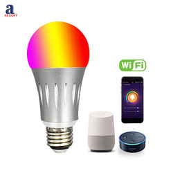 Alexa Dimmable Bulb LED Color Changing RGB Magic Home Lamp WIFI Smart Light Monitor and Control by Mobile Phone