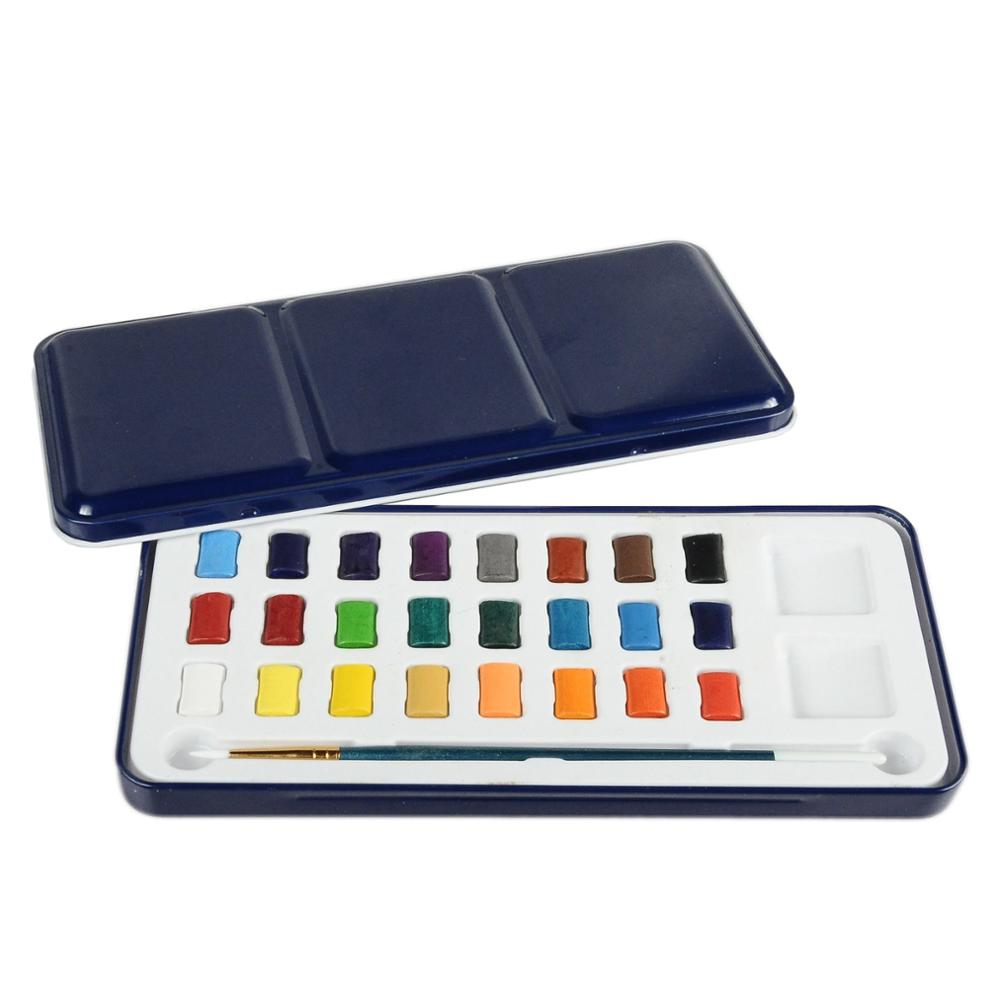 TARGET audited supplier,damp-dry metallic watercolor set ,promotional new watercolor cake