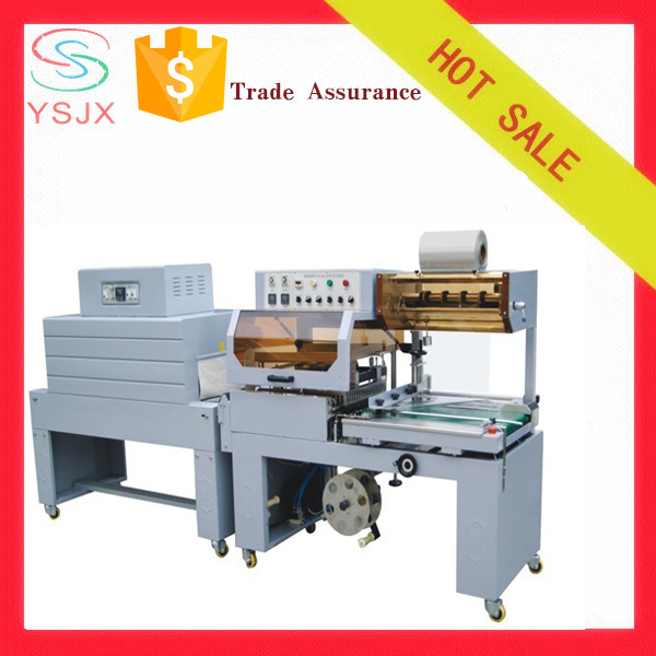 gift box shrink film cutting and shrinking and packing machine
