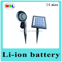 Outdoor solar garden light replacement stakes with motation sensor