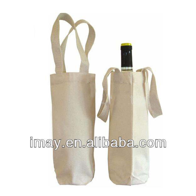 100% cotton single wine bag