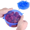 Silicone food stretch lids set silicone stretch lids 6-pack of various sizes
