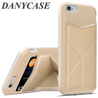 2015 newest mobile accessories, flexible stand cover for iphone6/6plus , leather case for samsung note4 back cover