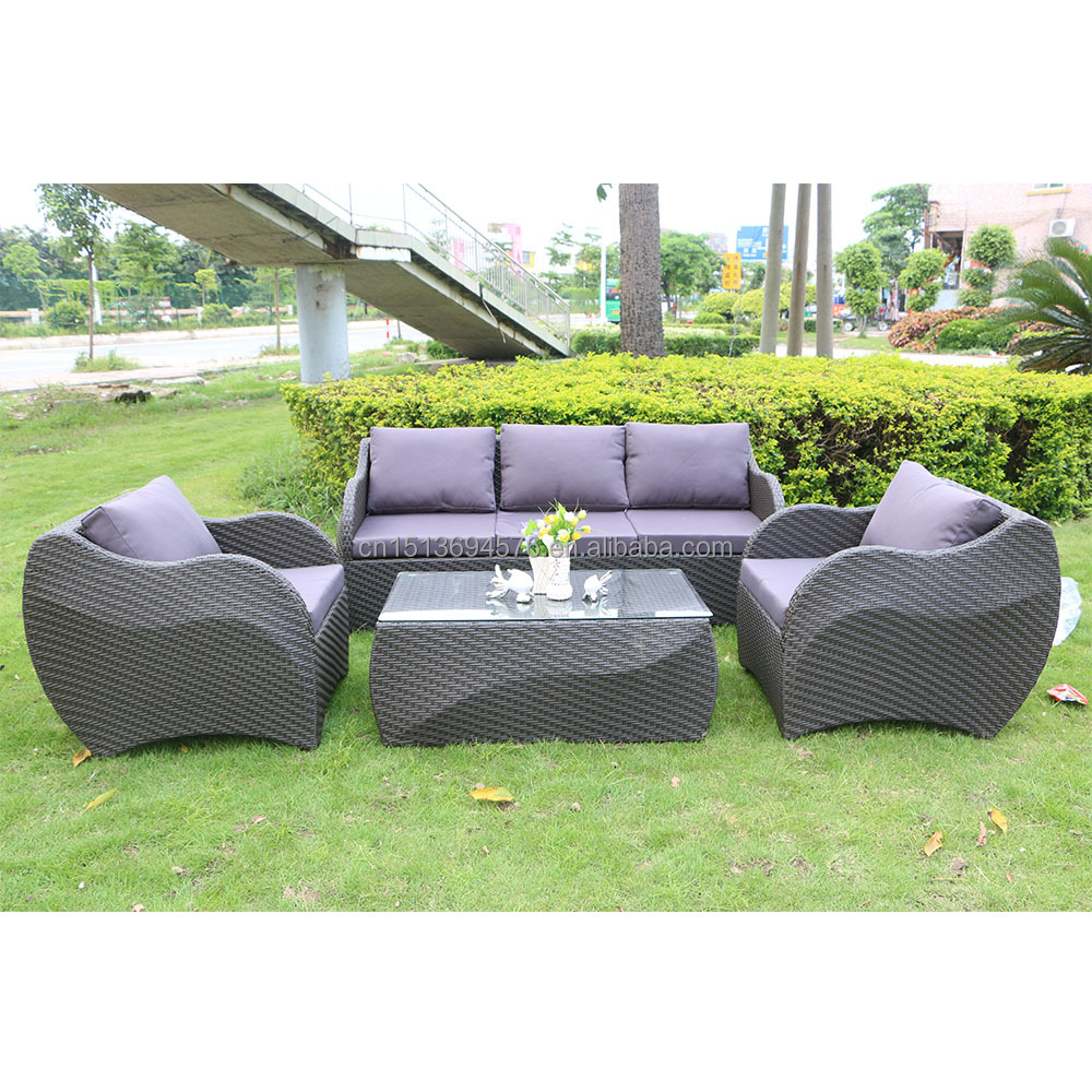 europe style outdoor furniture rattan wicker patio sofa